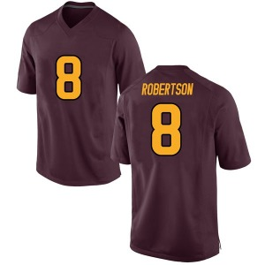 Men's Merlin Robertson Arizona State Sun Devils Men's Game Maroon Football College Jersey