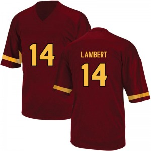 Youth Stanley Lambert Adidas Arizona State Sun Devils Youth Replica Maroon Football College Jersey
