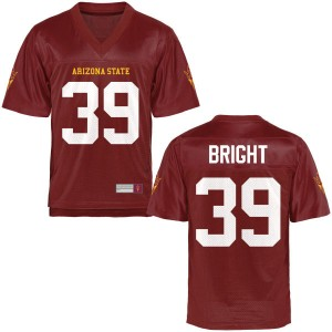 Youth Ryan Bright Arizona State Sun Devils Youth Game Football Jersey - Maroon